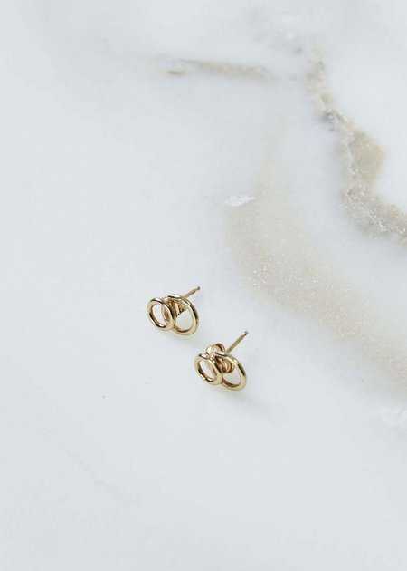White Space Scarpa Stud Earrings