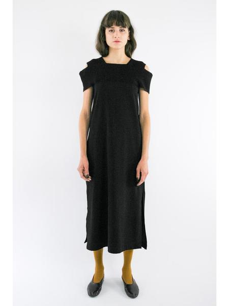 Correll Correll Two Two Knit Collar Dress - Black