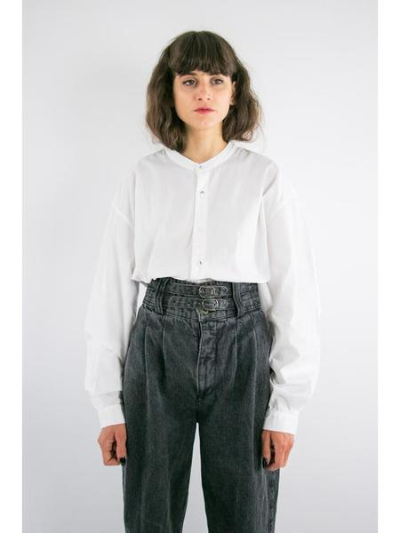 Unisex Kapital Broad Cloth Band Collar Shirt