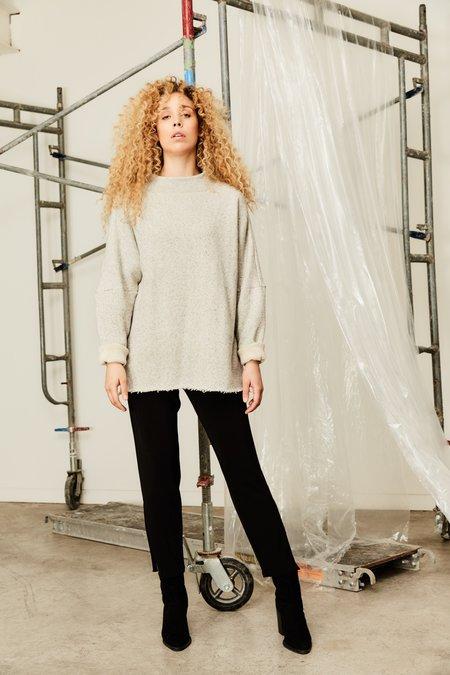 Devlyn Van Loon Boatneck Sweater - Heather Grey