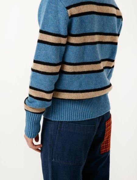 Marni Stripe Sweater - Blue/Khaki