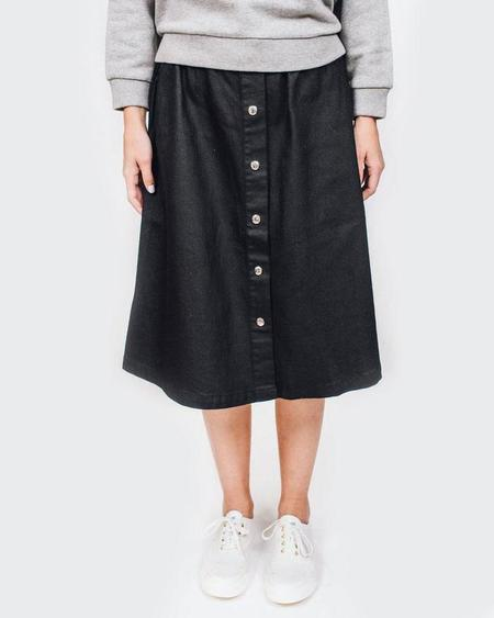 Maison Kitsune Denim Oki Buttoned Skirt