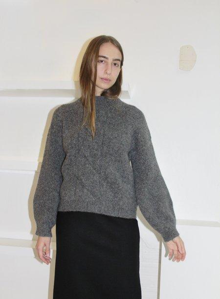 Micaela Greg Twist Sweater - Melange Grey