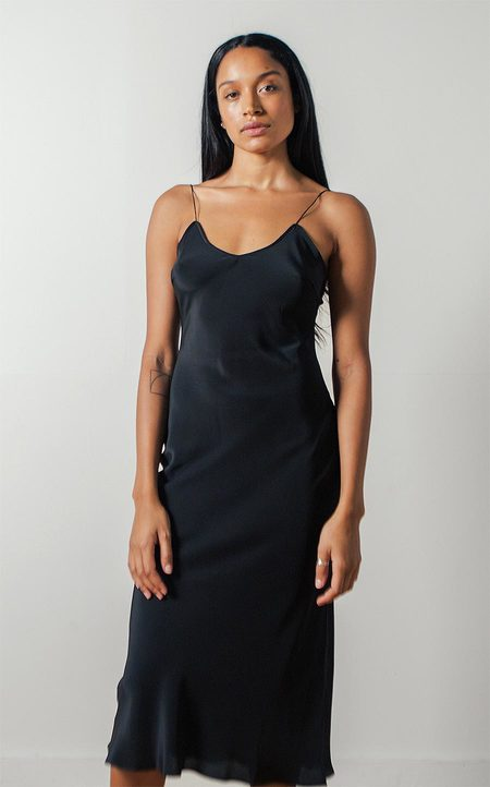 Pari Desai Sandoval Laced Slip Dress in Black