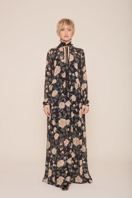 Ganni Carlton Georgette Maxi Dress