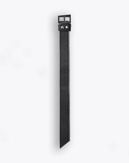 South Lane Black Side Zipper Strap