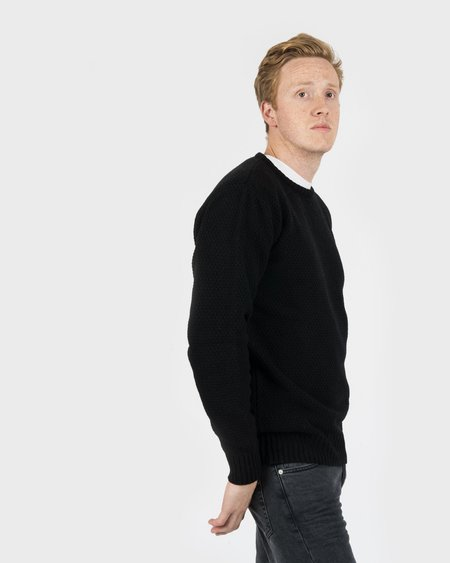 Soulland Rickets Honeycomb Sweater Black