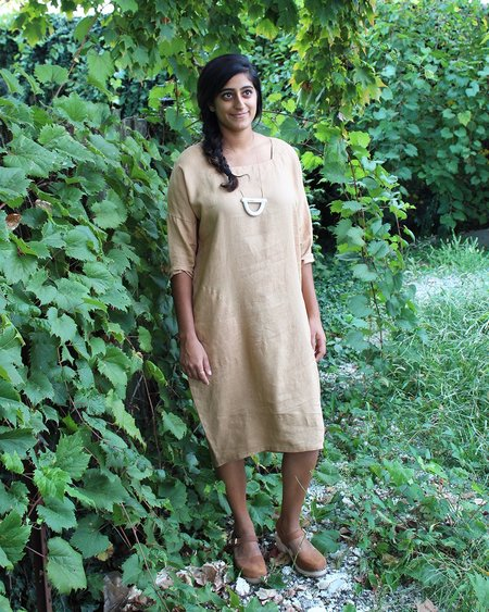 Sugar Candy Mountain The Bobbi Dress in Camel Linen
