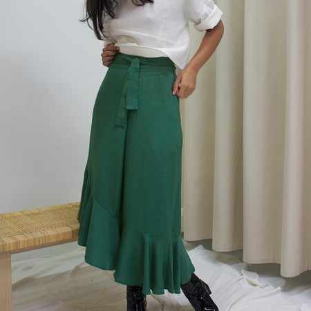Ajaie Alaie Flamenca Skirt - Eucalyptus