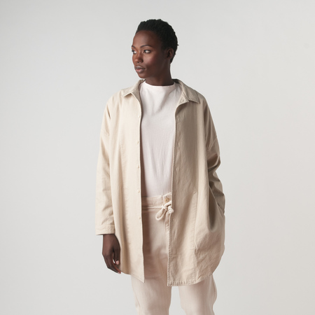 Prospective Flow Ori Oversized Shirt in Natural