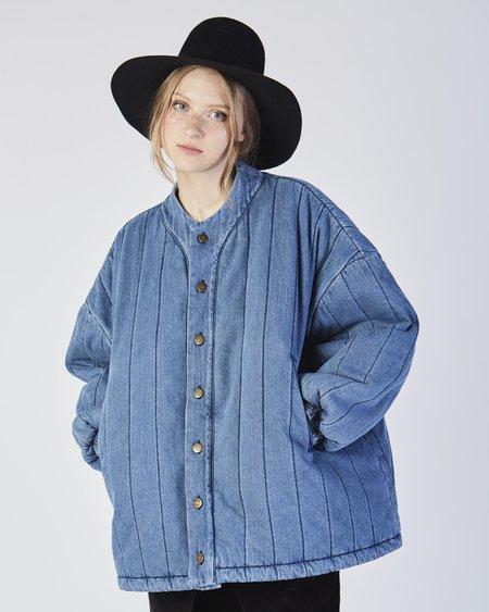 Unisex 69 Cropped quilted denim jacket