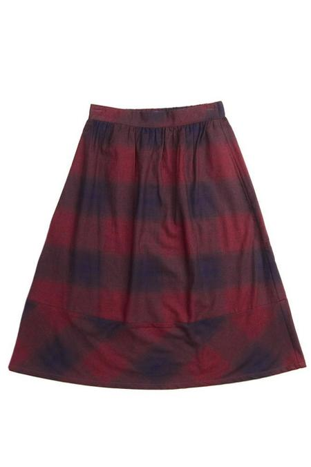 Bridge & Burn Alma - Burgundy Ombre Plaid