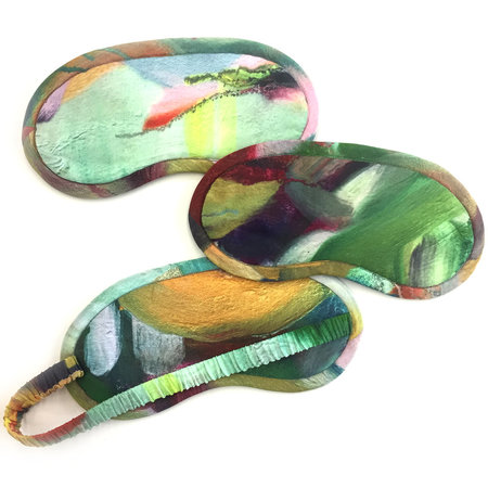 Strathcona Painted Gesture Silk Eye Mask - Online Only