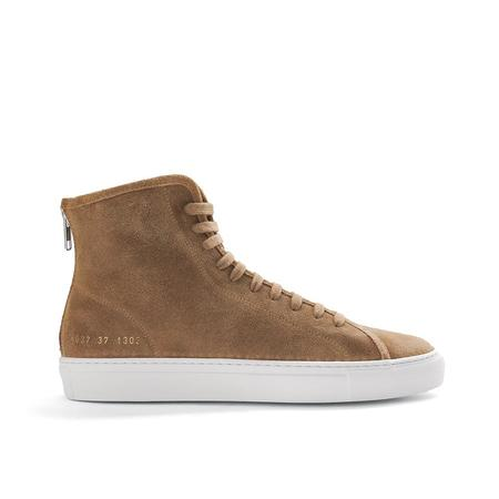 common projects tournament high sneaker - TAN