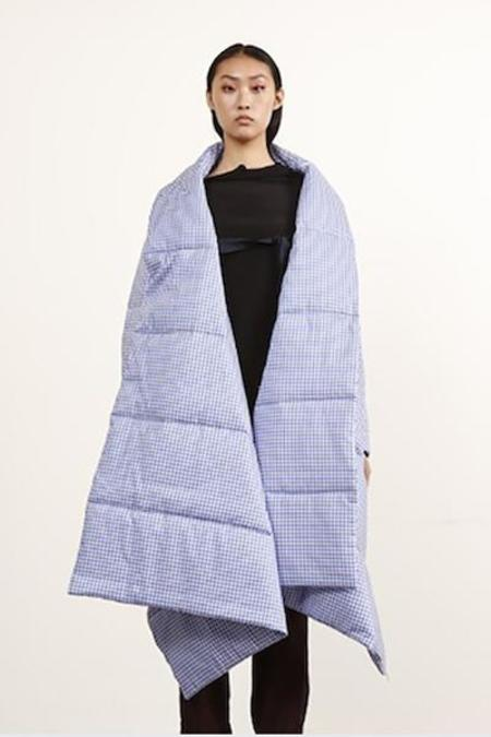 Ffixxed Studios Scarf With Sleeves - Blue/White Check