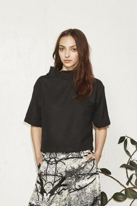 H. Fredriksson Crop Top Black