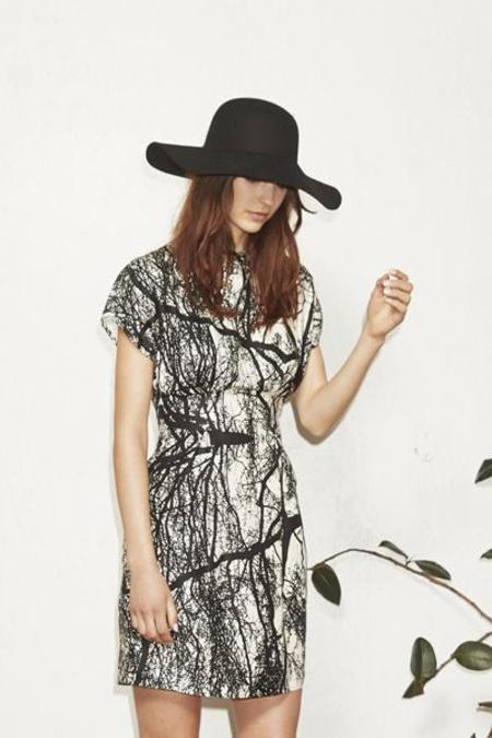 H. Fredriksson Pleat Trees Dress