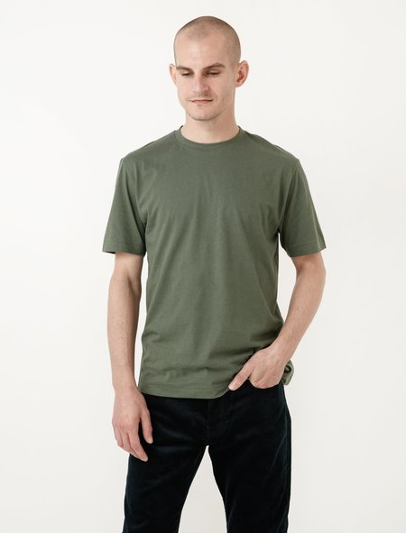 Niuhans Cotton Cashmere Soft Brushed Tee - Green