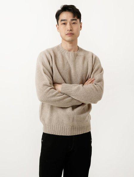 Neighbour Mens Shetland Sweater - Oatmilk