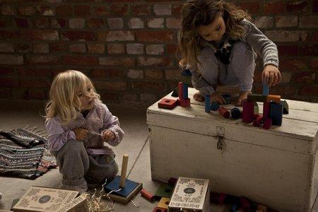 Kid's Wooden Story Rainbow Blocks