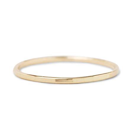 In God We Trust Hammered Ring - 14k Gold