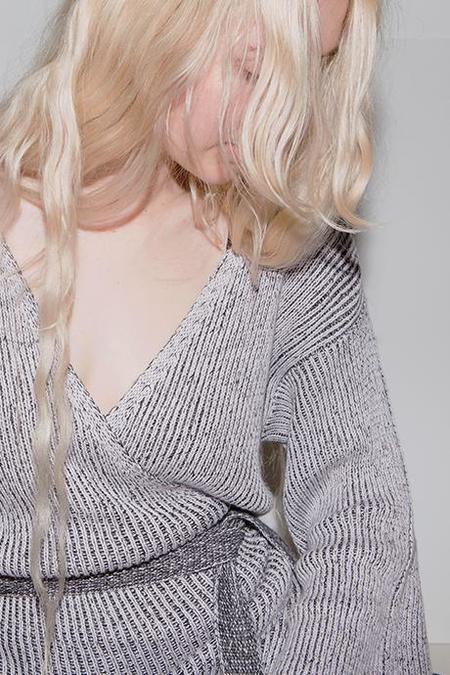 Maria Dora Knit Wrap Dress