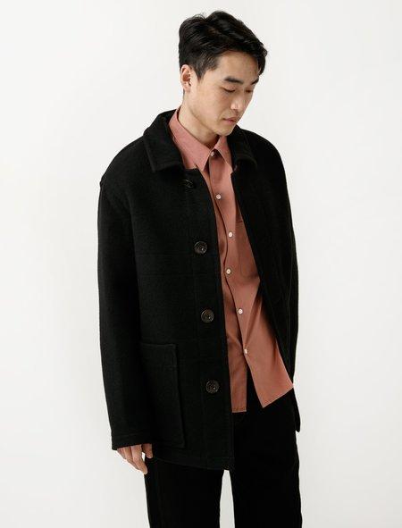 Lemaire Unlined Short Coat - Black