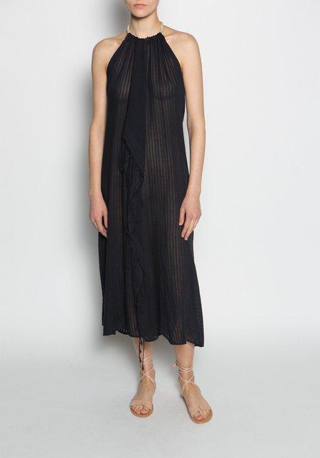 SU' Deep Open Back Sleeveless Long Tina Dress