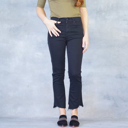 Mother Denim Jeans Insider Crop Two Step Fray in Guilty Party Racer