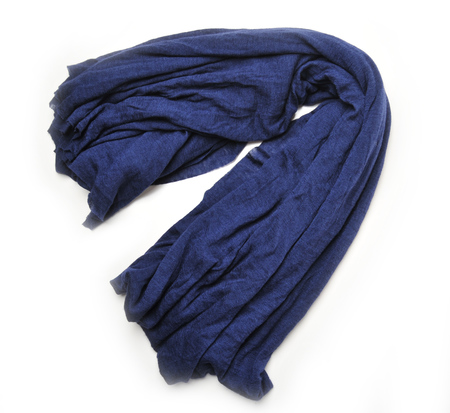 Botto Giuseppe Navy Cashmere and Silk Blend Stole