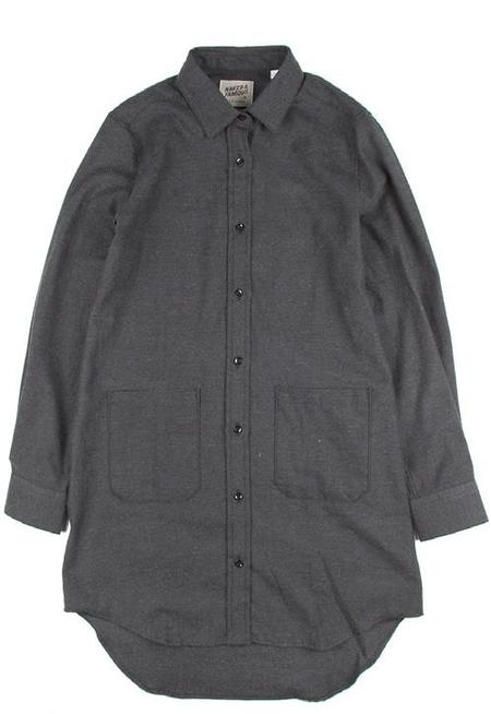 Naked And Famous LONG SHIRT SOFT YARN DYED TWILL