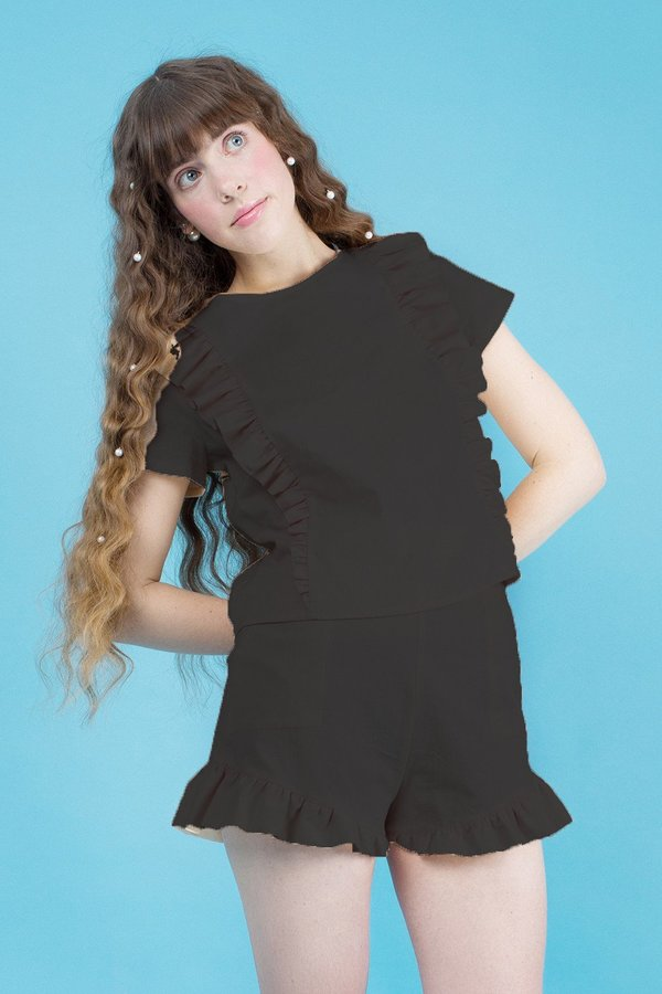 Samantha Pleet Fin Shorts - Black