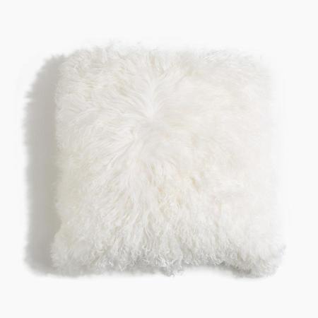 Poketo Square Lamb Fur Pillow