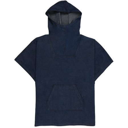 Naked & Famous Anorak - Classic Blue Dungaree