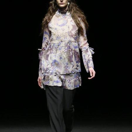 LOA Oriental Printed Dress - Purple