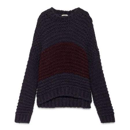 LOA Oversize Sweater - Purple with Red Center Stripe
