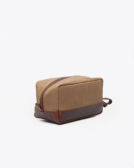 Nisolo Durango Dopp Kit - Waxed Canvas