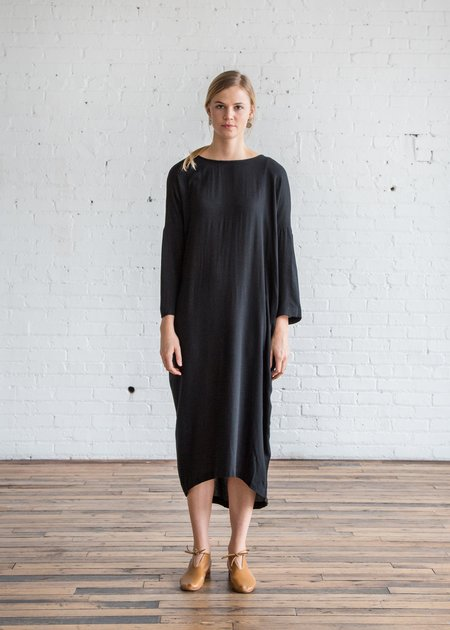 Black crane double dress