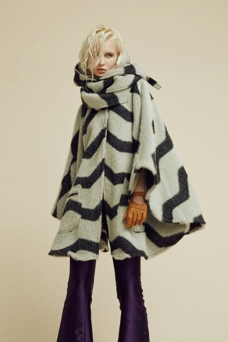 Lindsey Thornburg Chevron Alpaca Mid-Length Cloak