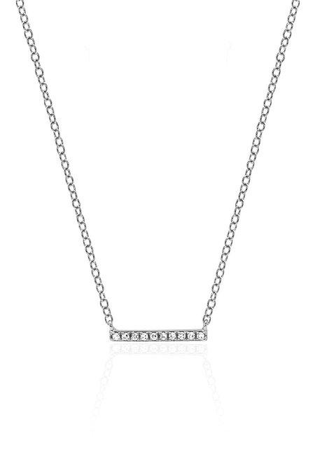 EF Collection Diamond Mini Bar Necklace