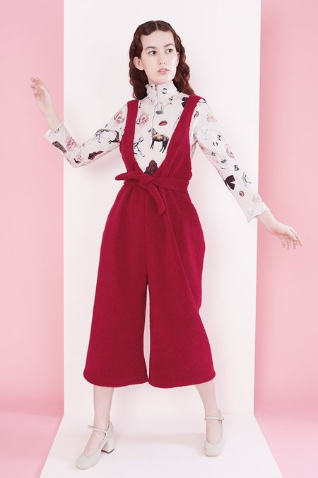 Samantha Pleet Sheep Overall - Crimson
