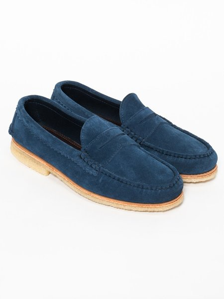 Quoddy True Penny Loafer Sharks Fin Stead Suede