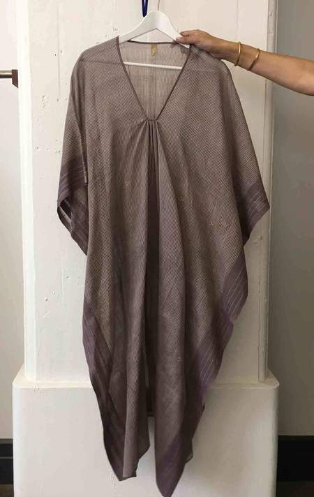 Two Plum Caftan with Stripes