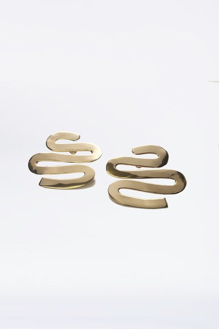 Luiny Brass Smith Earrings