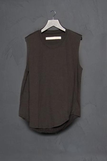 Raquel Allegra Solid Shredded Back Muscle Tank