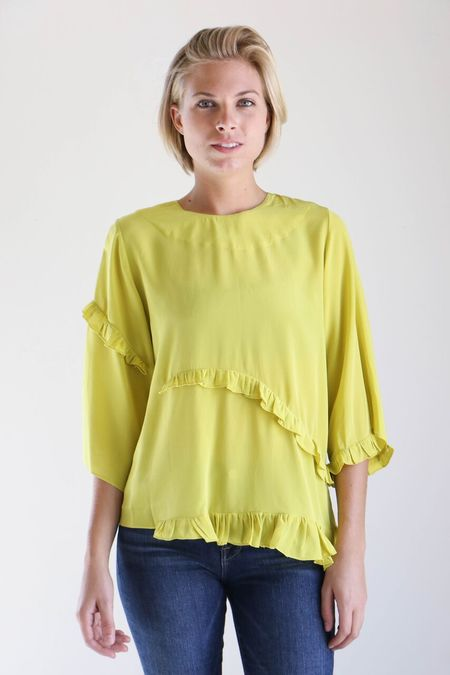 Correll Correll Rococco New Shirt in Yellow Silk