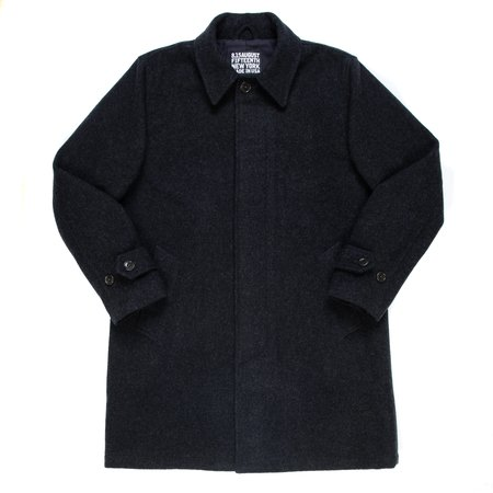 August Fifteenth Highlands Coat - Charcoal Wool