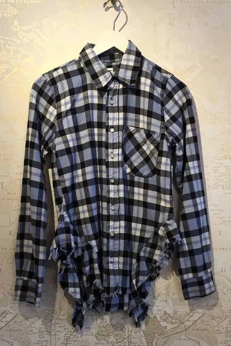 NSF Rahel Side Ruffle Plaid Shirt