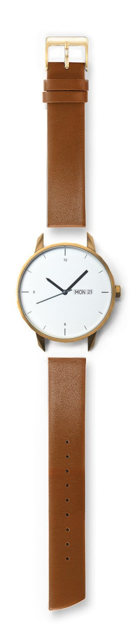 Tinker Watches 42mm Gold Watch Camel Strap