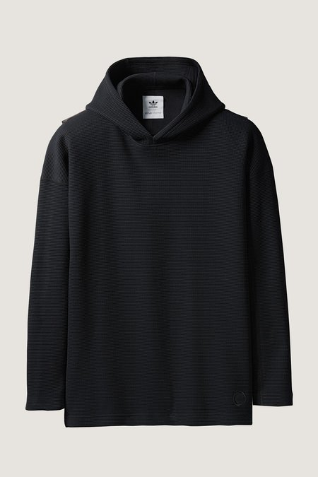 Adidas X Wings + Horns Double Waffle Knit Pullover Hoodie - Black